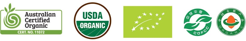 Pure Vision Wines Organic Certification Logos